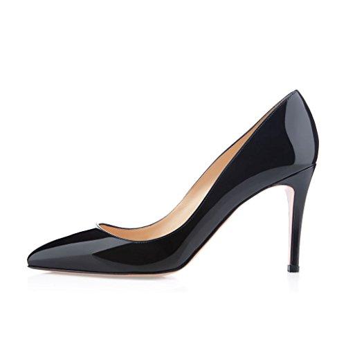 EDEFS Damenschuhe Faschion Digalle 85mm Große Größe Schuhe Handgearbeiteten Schuhe Schwarz