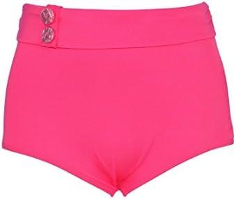 Bas de maillot de bain Curvy Kate Culotte Haute Luau Love High Waist Brief Rose
