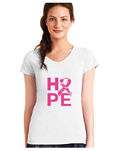 Camiseta Cuello V Mujer - Hope - Apoya Lucha contra