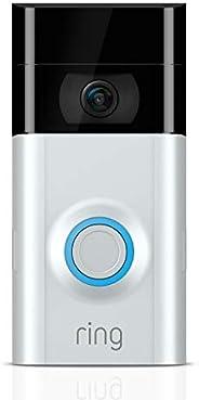 Ring Video Doorbell 2, videodeurbel, 1080p HD-video, tweeweg-audio, bewegingsdetectie, wifi-verbinding