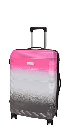 Leichtgewicht Starke Harte Schale PC Koffer 4 Rad Mittelgroßes Gepäck Trolley mit TSA Schloss HLG742 (Pink) (Gepäck Hardshell)