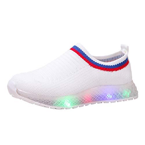 Scarpe Luminose Moda Casual Scarpe Bambini Scarpe da Corsa Luminose Traspiranti a LED Traspiranti in Mesh Intrecciata