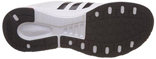 adidas Cloudfoam Saturn, Scarpe da Ginnastica Uomo Bianco (Ftwbla/Negbas/Escarl)