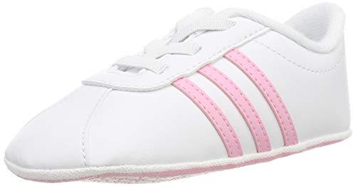 Adidas VL Court 2.0 Crib, Zapatillas de Estar por casa Bebé Unisex, Multicolor Ftwbla/Rosaut/Grasua...