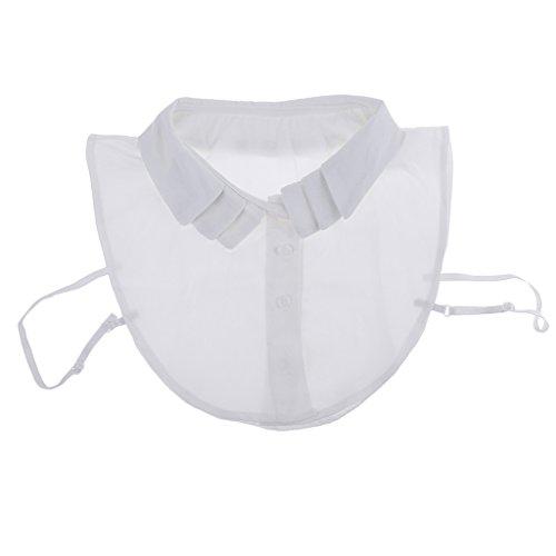 Sharplace Frauen Kragen Hälfte Shirt Bluse Blusenkragen Krageneinsatz Bluseneinsatz Abnehmbare Flasche Kragen - Weiß1, wie beschrieben (Peter-pan-kragen T-shirts)