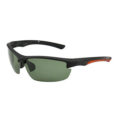 JM Sport Polarisiert Sonnenbrille Dame Herre Halb Randlos Radfahren Laufen Angeln Golf Wandern