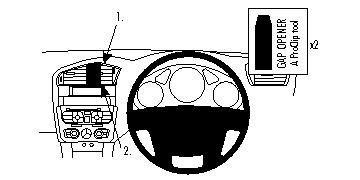 Preisvergleich Produktbild Brodit ProClip 654590 Center Mount für Citroen DS4 11-14