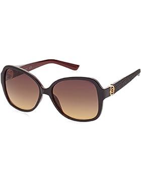 Guess GF0275_52F, Gafas de Sol para Mujer, Negro (Nero/Rosso), 58