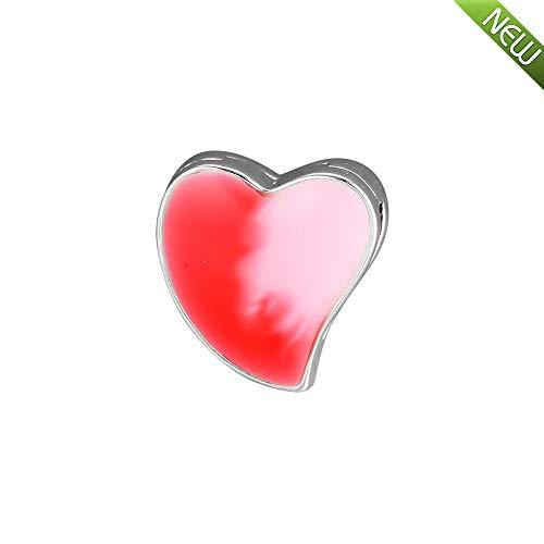 Pandocci riflessioni regalo giorno di san valentino 2019 asimmetrico cuore d'amore clip 925 argento fai da te adatto per originale pandora fascino gioielli moda