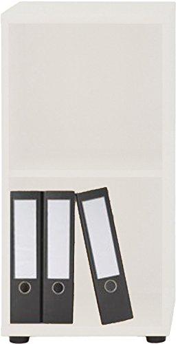 VCM Regal Aktenregal Büroregal Schrank Bücherregal Büroschrank Standregal Omegos 1 Breite 40 cm, Weiß