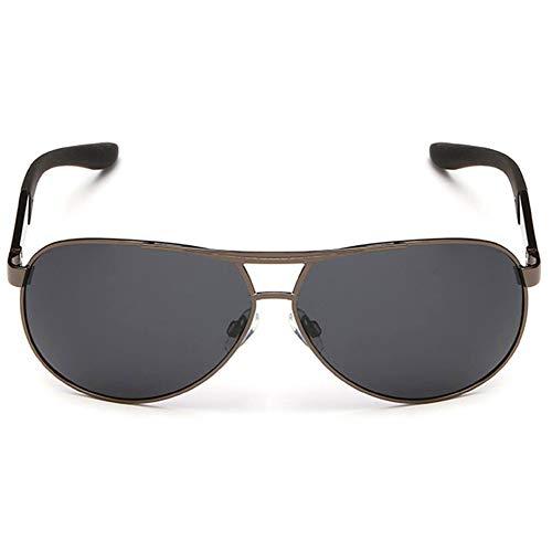 Sonnenbrille Metallrahmen Anti-Müdigkeit High-Definition Anti-Schlagfestigkeit verstärkt polarisiert Anti-UV-Flick, geeignet für Verschiedene Gesichtsarten von Männern