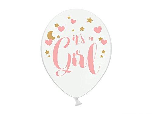 6 Luftballon Its a Girl Babyparty Pullerparty Geburt Ballons