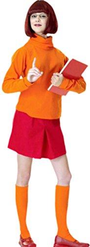 erdbeerloft - Damen Velma, Scooby Doo Kostüm, M, Mehrfarbig