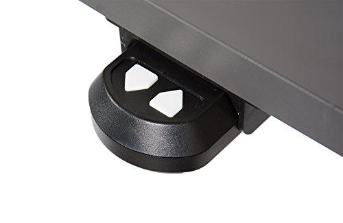 Ergonomischer Schreibtisch elektrisch höhenverstellbar | höhenverstellbarer Bürotisch Workstation Arbeitstisch Bürotisch Büromöbel (160 x 80 cm, Anthrazit) -