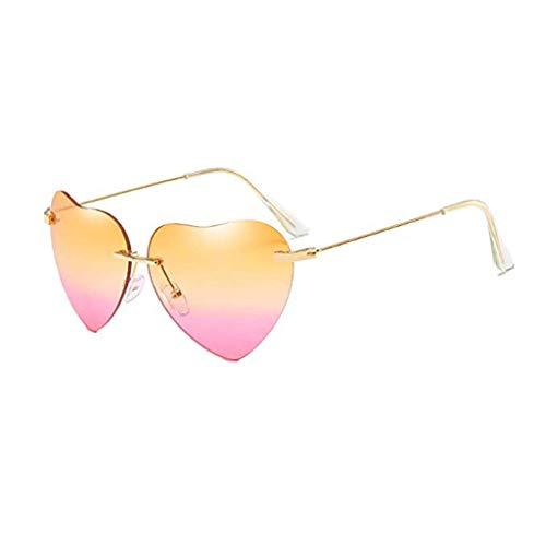 Vovotrade New Retro Love Ocean Piece Sonnenbrille Street Beat Pfirsich herzförmige Sonnenbrille Mode cool, Urlaub unerlässlich (D)