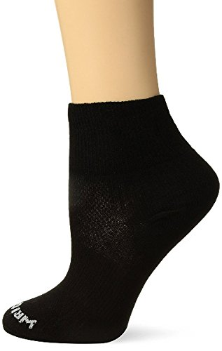 Wrightsock Coolmesh II Quarter Socke Black 45.5-49 (Nylon Sport Socken Running)