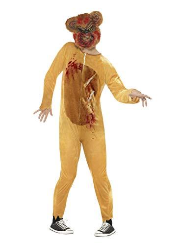 Smiffys Unisex Deluxe Zombie Teddybär Kostüm, Bodysuit und Maske, Größe: M, 45269 (Ted Teddy Bär Kostüm)