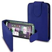PCMOVILES --Funda de piel para Sony Xperia Miro ST23i, color azul.