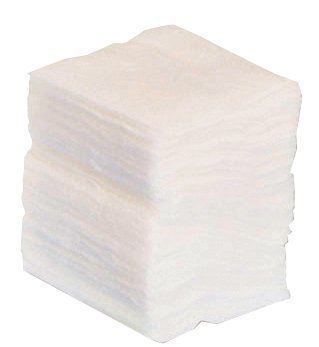 Premier Absorbent Cotton Gauze Swabs, Non-Sterile, White, 8 Ply, 5 x 5 cm, Pack of 100