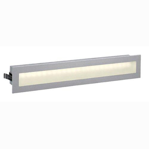 SLV Glenos LED de pared para montaje de luz, de forma rectangular, 3 W, 24 de cálida luz blanca/Colour gris 112812