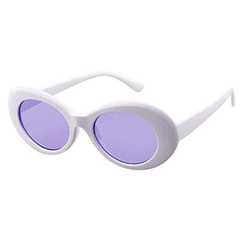Kangqi Outdoor-Sonnenbrillen Retro Vintage Clut Goggles Unisex Sonnenbrille - Rapper Oval Shades Grunge Brille UV400 Protective Herren Damen für Fahren/Urlaub/Reisen für Dich (Farbe : E)