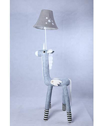 DMMASH Kinderzimmer Leder Warm Cute Unicorn Floor Lampe Cartoon Bedside Counter Licht - Leder-counter
