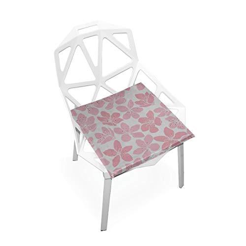 Enhusk Romantische Sakura Rosa Flora Benutzerdefinierte Weiche Rutschfeste quadratische Memory Foam Chair Pads Kissen Sitz für Home Kitchen Esszimmer Büro Schreibtisch Möbel Indoor 16 x 16 Zoll -