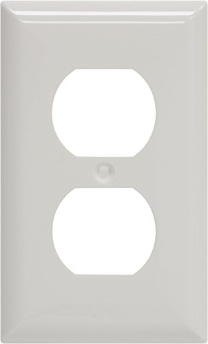 GE Duplex Receptacle Wall Plate, White Nylon 40022 by GE (GEAO7)