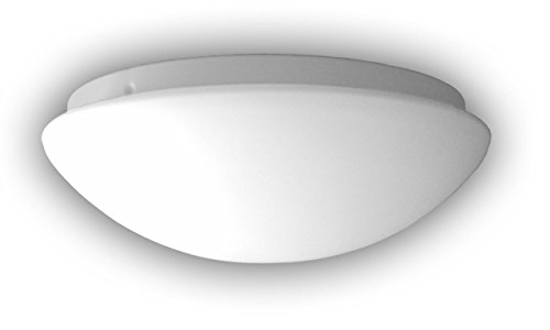 Niermann Standby Nurglasleuchte, Glas/Metall, E27, Opal matt, 35 x 35 x 13 cm -