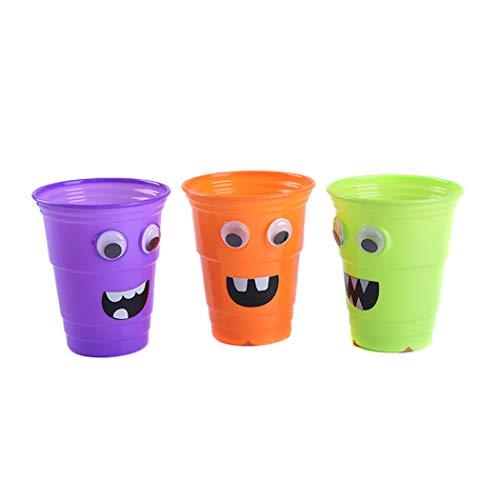 lloween Cup Cute Cartoon Decor Trinkbecher Plastikbecher für Kindergarten ()