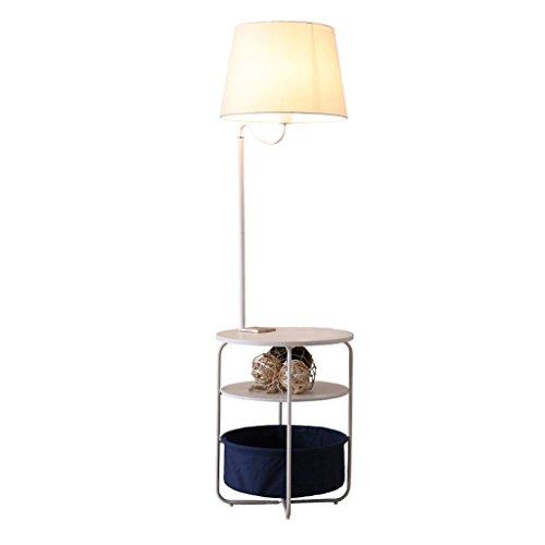 LED Stehleuchte Regal Tray Couchtisch vertikale Stehleuchte Moderne Metalltuch Kunst Pflege Auge Boden Licht (weiß)