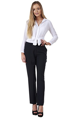 BHS Ladies Comfortable Work Straight Leg Office Formal Smart Womens Trousers