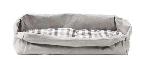 Gavemo Pongo: Couchage pour Chat/Chien en Fibre de Cellulose Couleur Gris, avec Coussin Amovible en Coton hypoallergénique, fabriqué en Italie par Limac Design®.