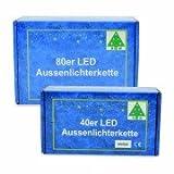 80iger LED-Lichterkette weiß