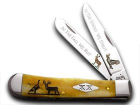 CaseXX XX Strut and Rut Antique Trapper Pocket Knife Knives