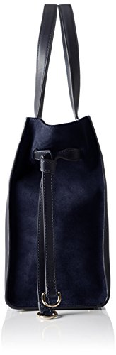 Tommy Hilfiger - Effortless Leather Tote, Borse Tote Donna Blu (Tommy Navy)