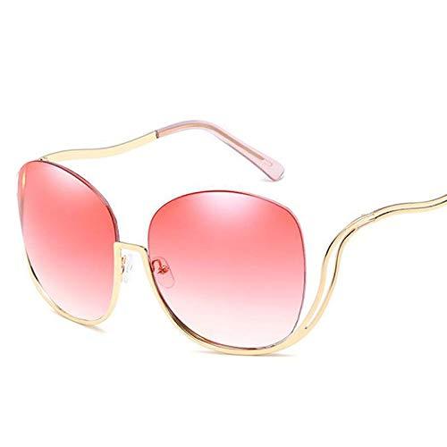 AAMOUSE Sonnenbrillen Vintage Sonnenbrillen übergroße transparente Damen Brille transparente Linse Mode Herren Sonnenbrille halbe Rahmen geschwungene Beine -