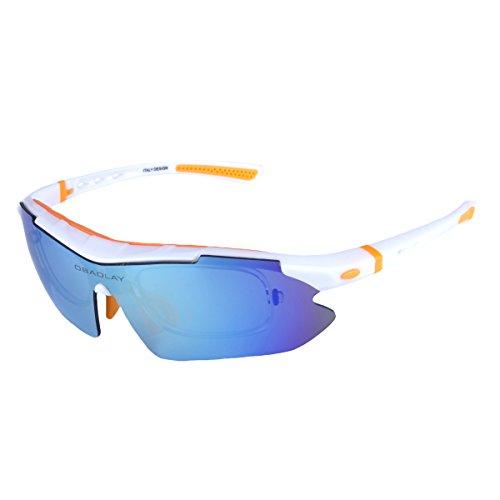 BaiTe Outdoor Sport Sonnenbrille Multi Sportbrillen austauschbar 5 Linsen unzerbrechlich Polarized UV400