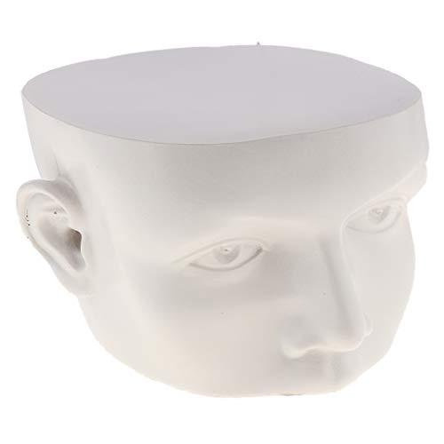 FLAMEER Schaufensterpuppe Gesicht Form Schmuck Ständer Sonnenbrille Requisiten Ausstellungsstand - Weiß