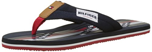 Tommy Hilfiger Seasonal Tommy Beach Sandal, Chanclas para Hombre, Azul (Midnight...