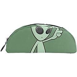 Bonie - Estuche para lápices de Alien con diseño de dibujos animados