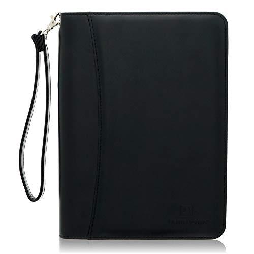 Mini con cremallera cartera de cartera portadocumentos de piel cartera de negocios-cartón y organizador carpeta con funda para tablet 8pulgadas por Lautus diseños