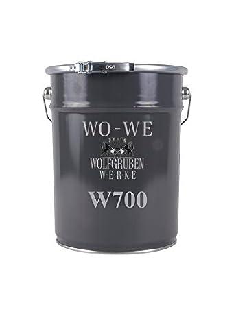 PEINTURE POUR SOL Type: Wolfgruben Werke (WO-WE) W700 pour peindre le garage, sous-sol, des entrepôts, des ateliers / applicable aux sol de béton, chape de ciment, bois et métal / pour intérieur et extérieur / extrêmement durable / BEIGE similaire RAL 1001 - 20L