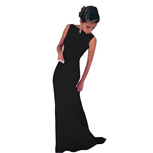 ISASSY Sexy Womens Girls Ladies Sleeveless Long Bodycon Prom Ball Cocktail Party Dress Formal Evening Gown