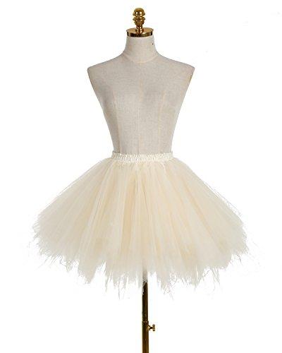 Dresstells Donna Balletti Danza Tutu Gonna Annata di 50 Cocktail Swing Principessa Sottogonna Tulle Champagne
