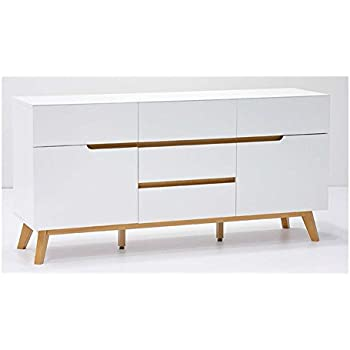 kommode sideboard wei matt eiche retro modern. Black Bedroom Furniture Sets. Home Design Ideas