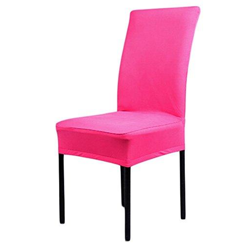 aihometm Universal Spandex Stretch chaircase Esszimmerstuhl Cover für Hochzeit Hotel Banquet Dekoration Hot Pink (Zebra Party-dekorationen Pink Hot)