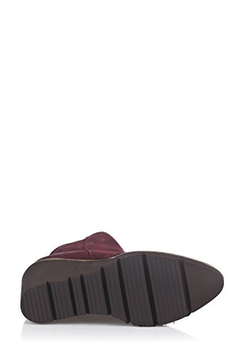 Laura Moretti Wedge Bootie, Bottines à Plateforme Femme Bordeaux