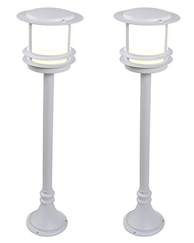 blooma-tauri-93cm-3ft-outdoor-post-light-two-pack-large-white-aluminium-garden-patio-lamps-energy-sa