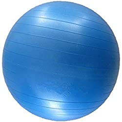 JOWY Pelota Pilates 55 cm Azul Tecnología Antiexplosión Pelota Fitness Ideal para Equilibrio y Yoga